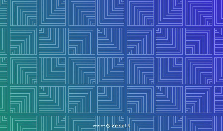 Quadrados de linha fundo gradiente geométrico