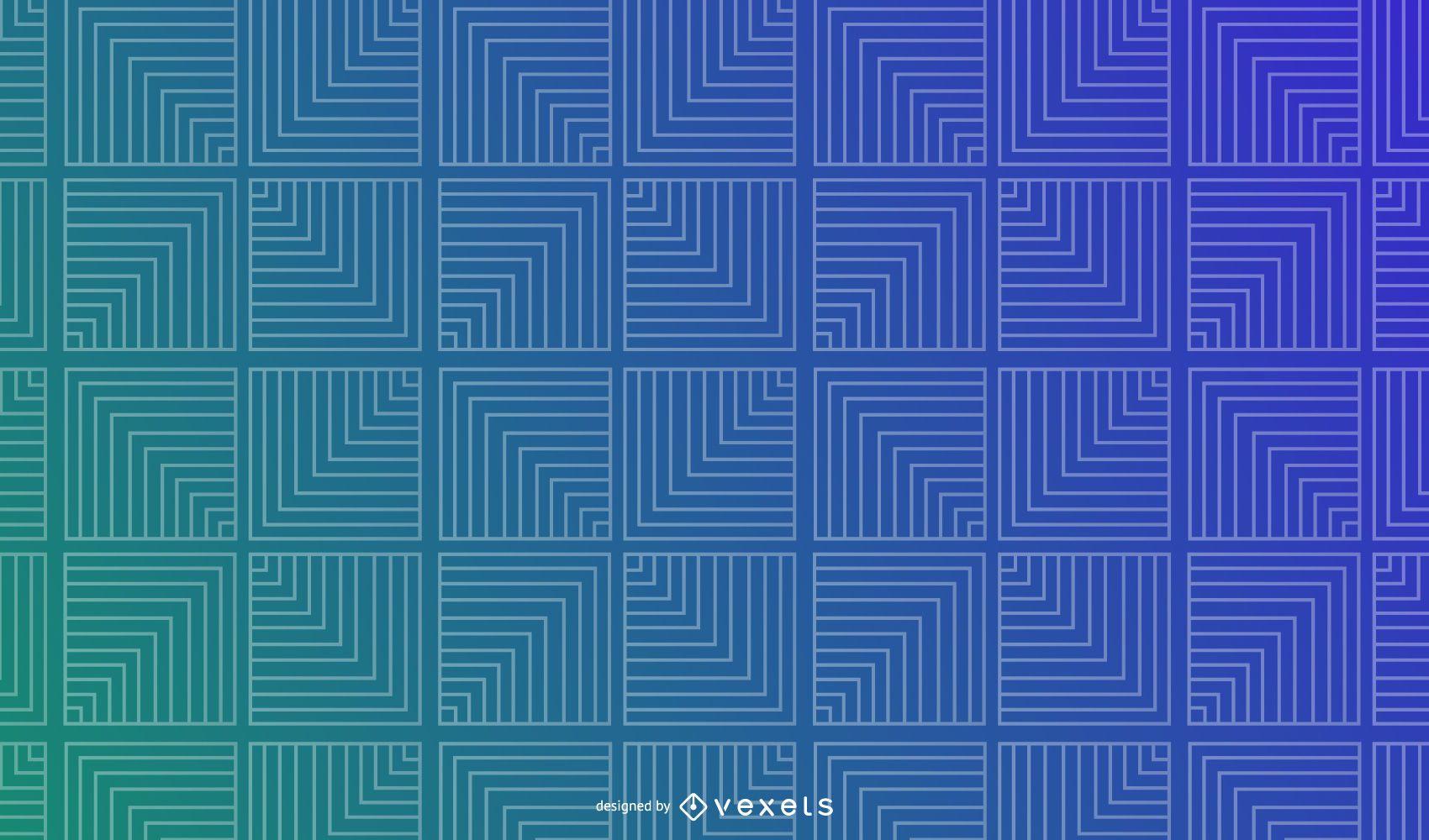 Fondo degradado geométrico cuadrados de línea