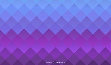 Fondo degradado de cuadrados púrpura azul