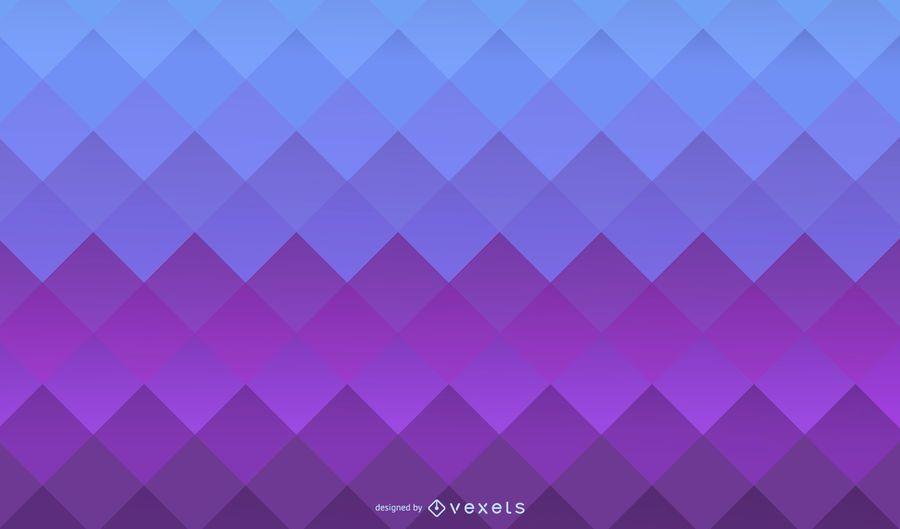 Quadrados roxos azuis fundo gradiente