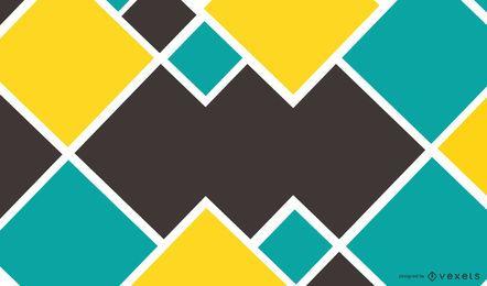 Abstraktes blaues Gelb quadriert Hintergrund
