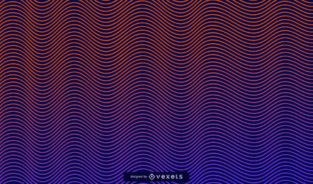 Wavy lines gradient background