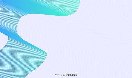 Fondo abstracto de ondas de línea azul