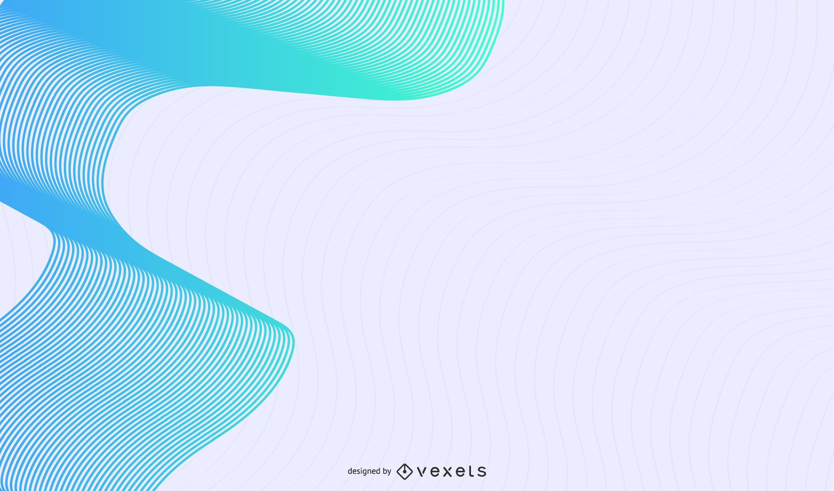 Blue line waves abstract background