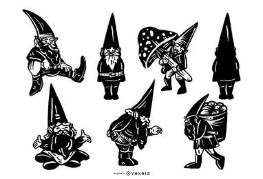 Gnome silhouette collection