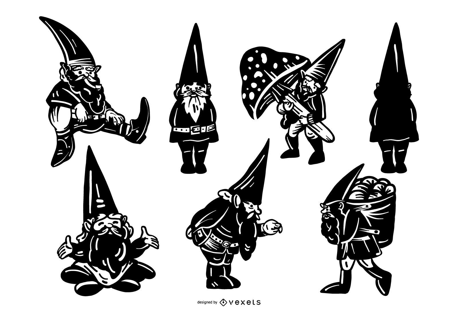 Gnome silhouette collection