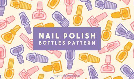 Diseño de patrón de botellas de esmalte de uñas