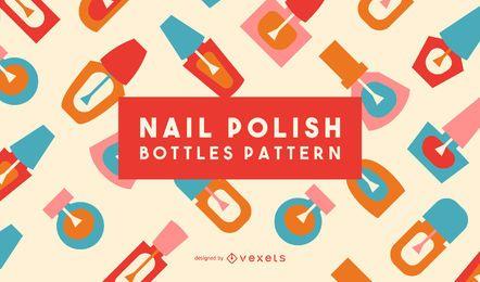 Conjunto de patrones planos de esmalte de uñas