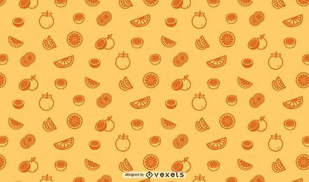 Diseño de patrones sin fisuras de naranjas