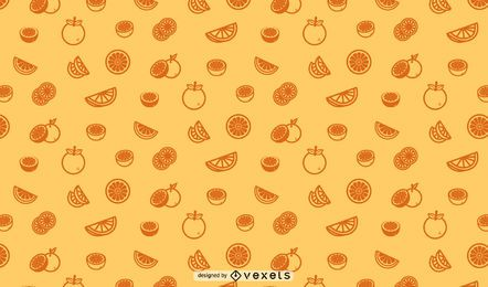 Oranges seamless pattern design