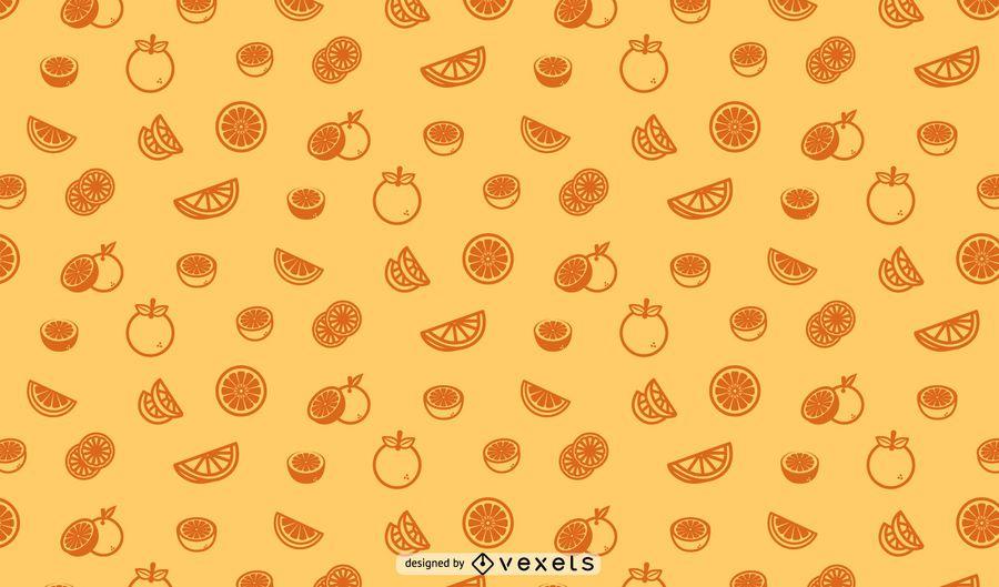 Nahtloses Musterdesign der Orangen