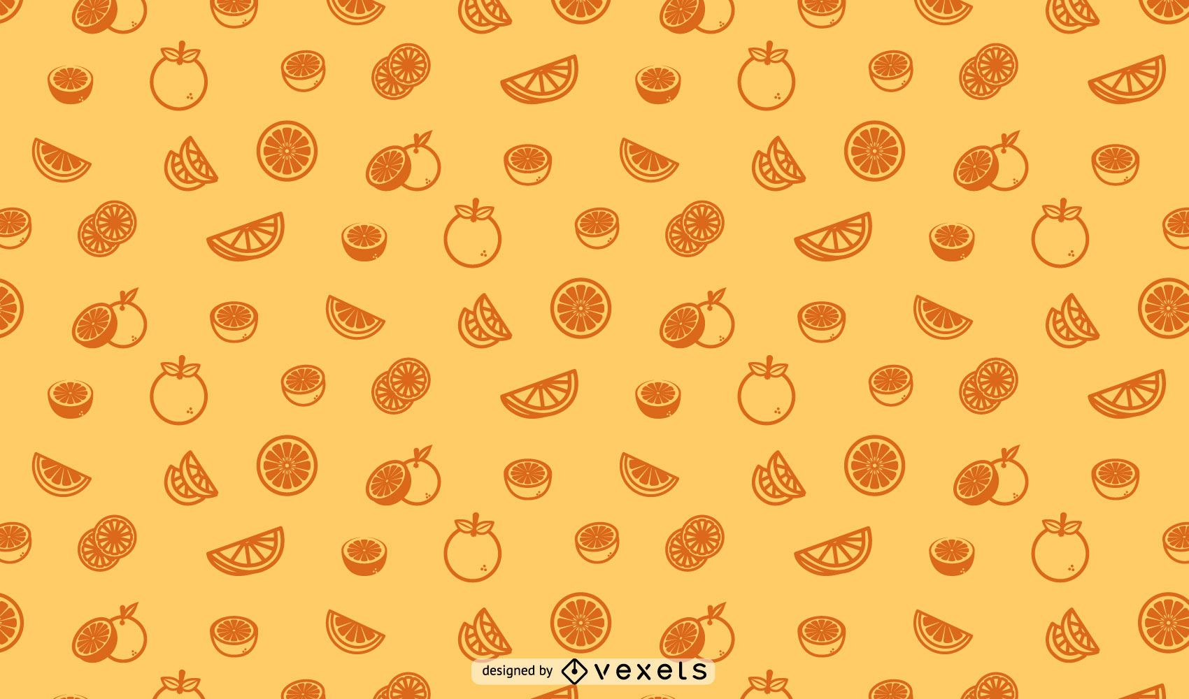 Oranges seamless pattern design