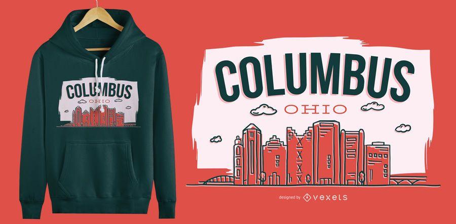 Diseño de camiseta Columbus Ohio