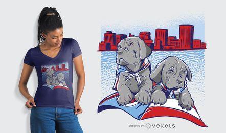 Projeto do t-shirt da skyline de Dayton