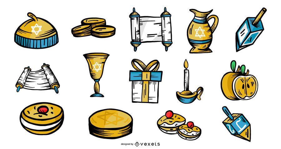 Hanukkah Elements Vector Pack
