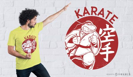 Diseño de camiseta Karate Turtle