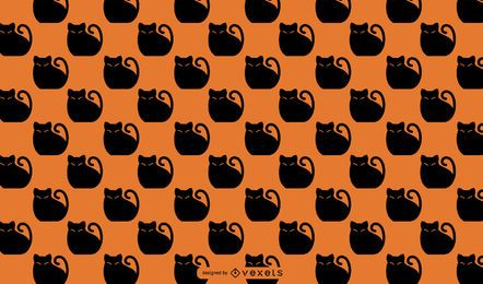 Halloween black cat pattern design