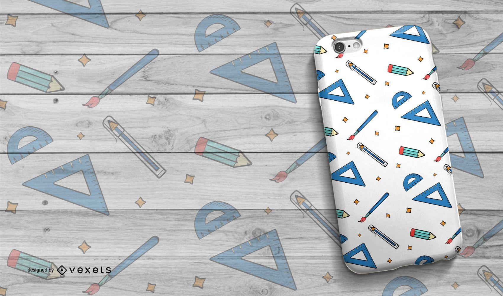 School themed phone case design
