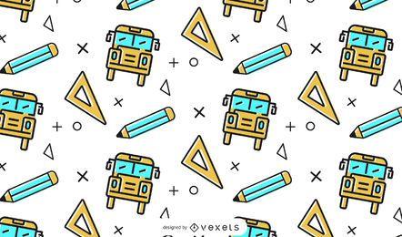 Diseño de patrón de autobús escolar
