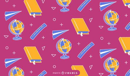 Diseño de patrones de elementos escolares