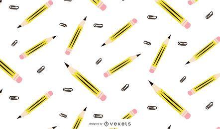 Design de padrão de lápis sem costura