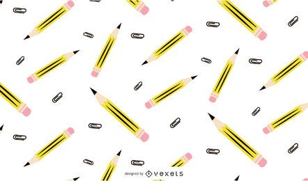 Diseño de patrón de lápiz transparente