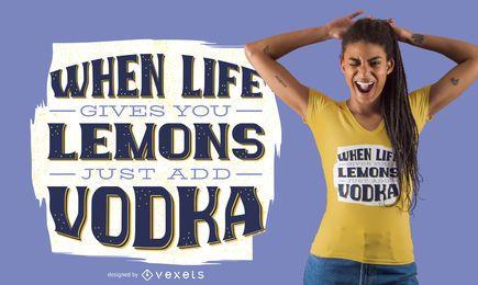 Diseño de camiseta bebiendo letras