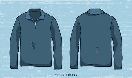 Dibujado a mano vector de suéter para hombre