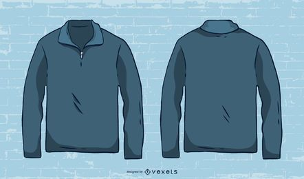 Hand drawn mens sweater vector