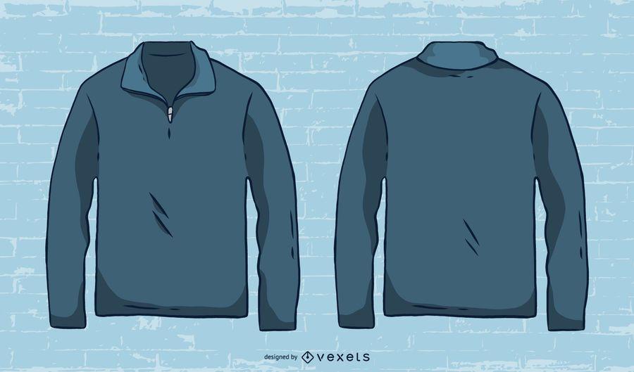 Hand drawn mens sweater vector