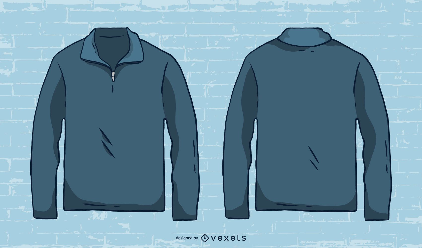 Vector de suéter de hombre dibujado a mano