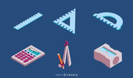 Conjunto de vetores de elementos escolares