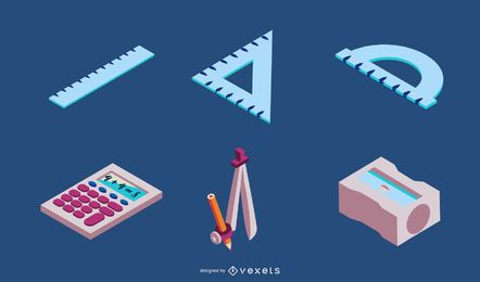 School Elements Vector Set