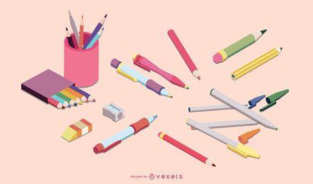 Lápiz lápiz conjunto de vectores