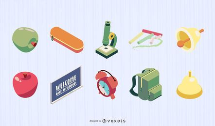School Elements Graphic Vector Set