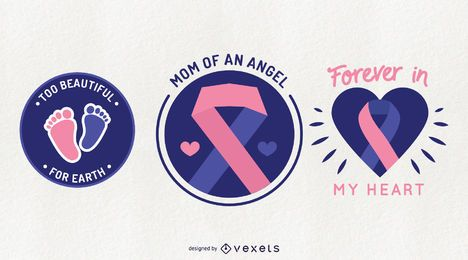 Pregnancy Loss Awareness Badge Set