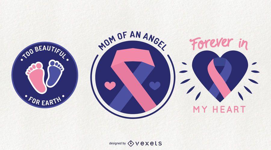 Pregnancy Loss Awareness Badge Set