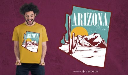 Arizona landscape t-shirt design