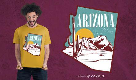 Diseño de camiseta paisaje Arizona