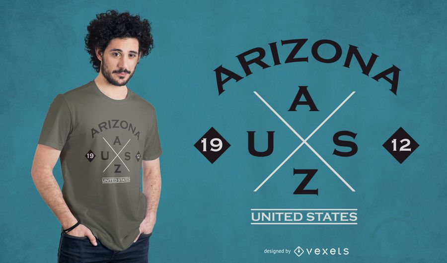 Diseño de camiseta del estado de Arizona