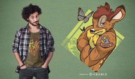T-shirt de bambi resistente