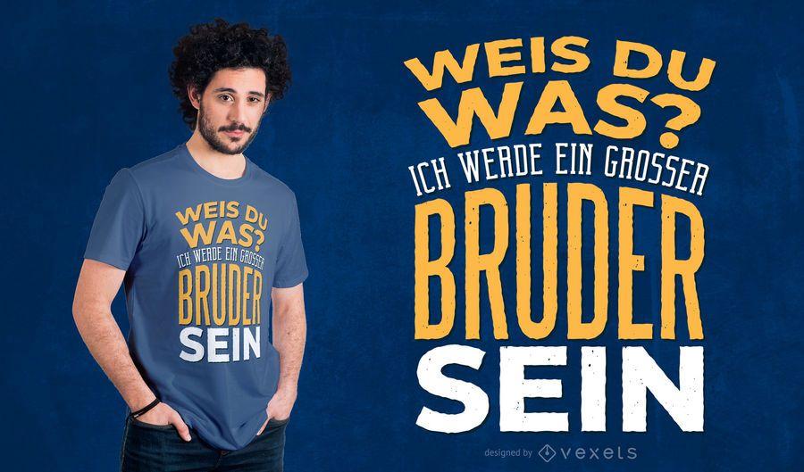 Design alemão do t-shirt do big brother