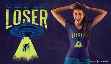 Funny alien abduction t-shirt design