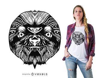 Projeto do t-shirt da mandala da preguiça