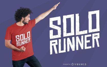 Diseño de camiseta de corredor en solitario