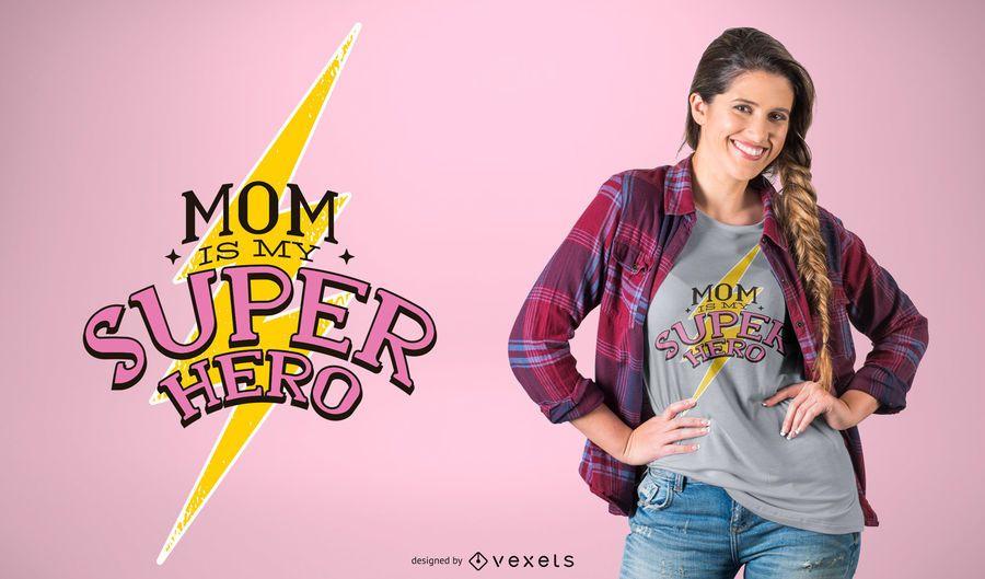 Diseño de camiseta super mamá