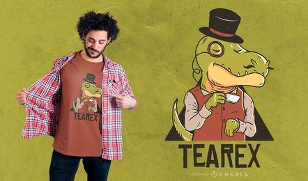 Diseño de camiseta dinosaurio Tearex.
