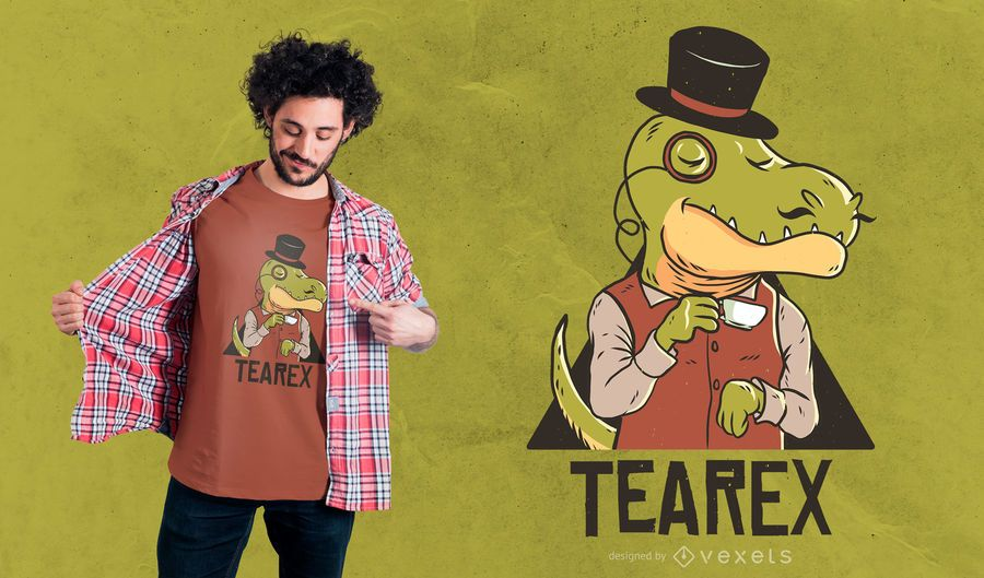 Tearex dinosaur t-shirt design