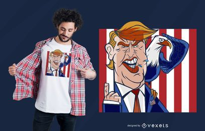 Diseño de camiseta Trump Eagle