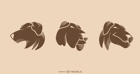 Dog Tattoo Vector design